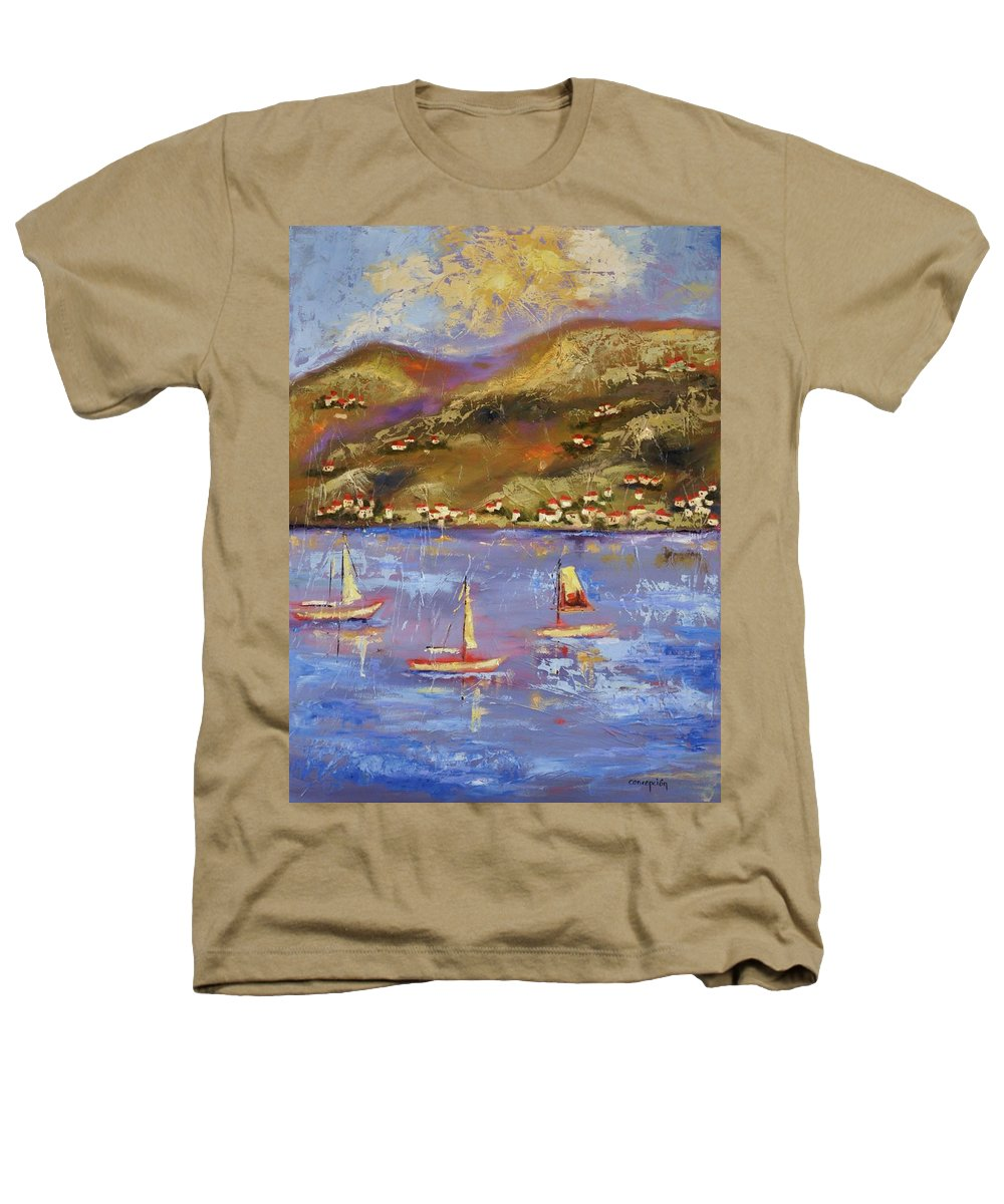 St. John Heathers T-Shirt featuring the painting St. John Usvi by Ginger Concepcion