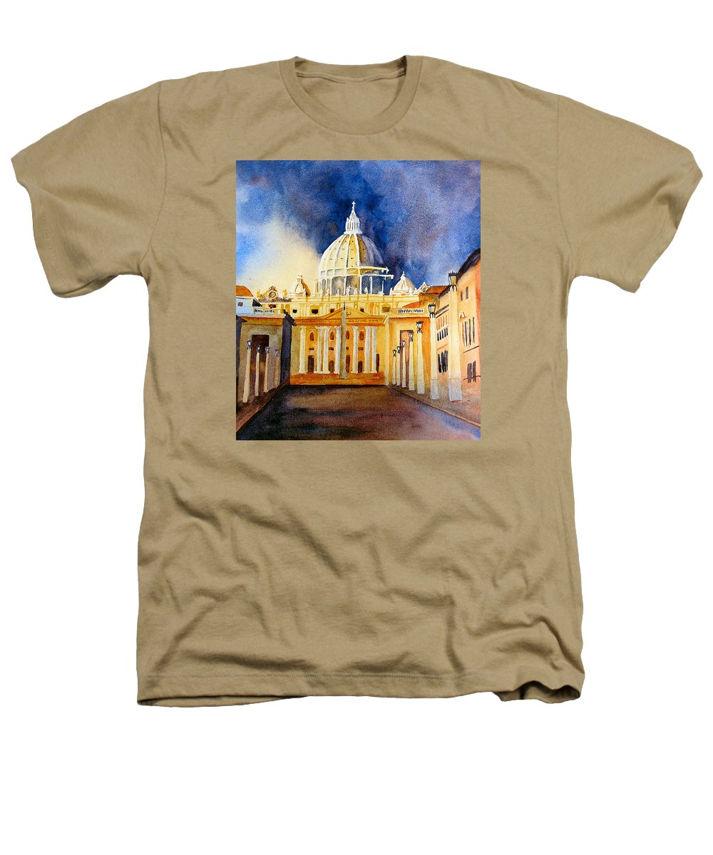 Vatican Heathers T-Shirt featuring the painting St. Peters Basilica by Karen Stark