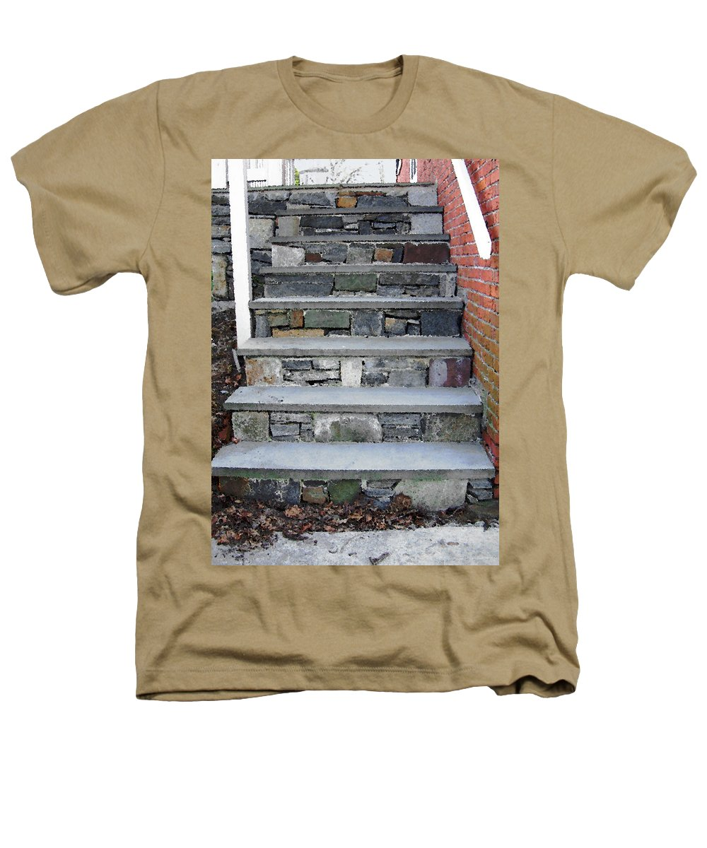 Stairs Heathers T-Shirt featuring the photograph Stairs To The Plague House by RC DeWinter