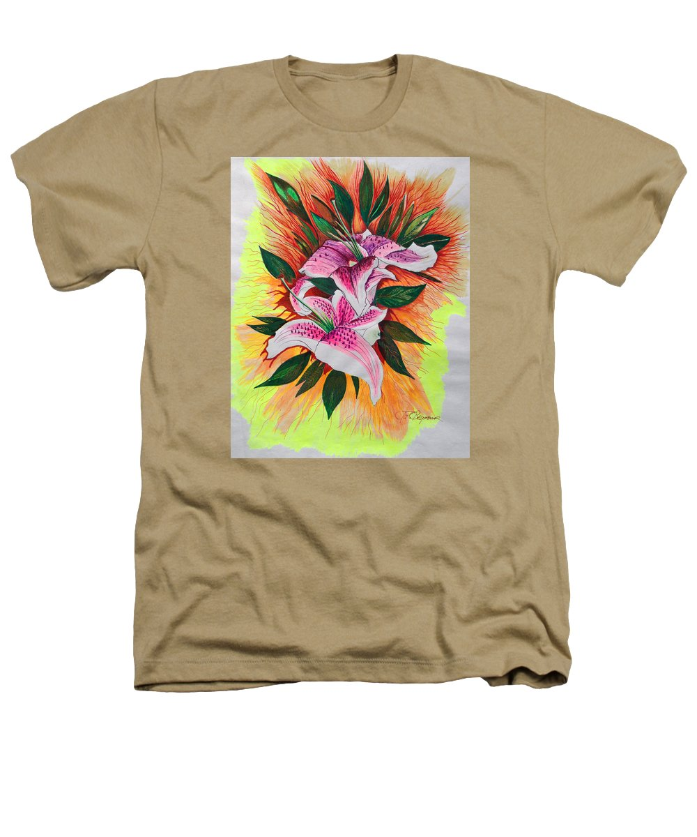 Flowers Heathers T-Shirt featuring the drawing Stargazers by J R Seymour