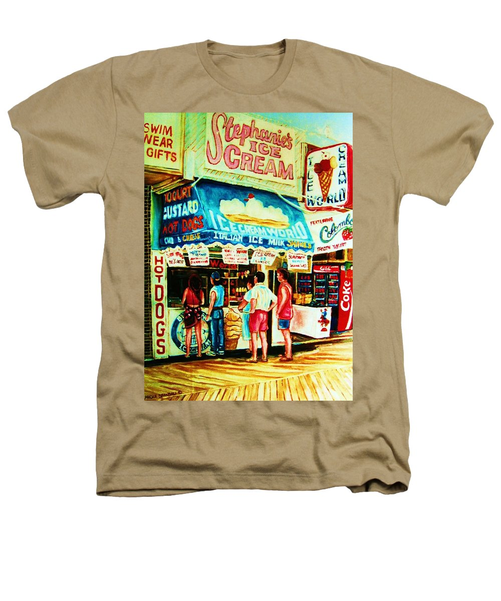 Children Heathers T-Shirt featuring the painting Stephanies Icecream Stand by Carole Spandau