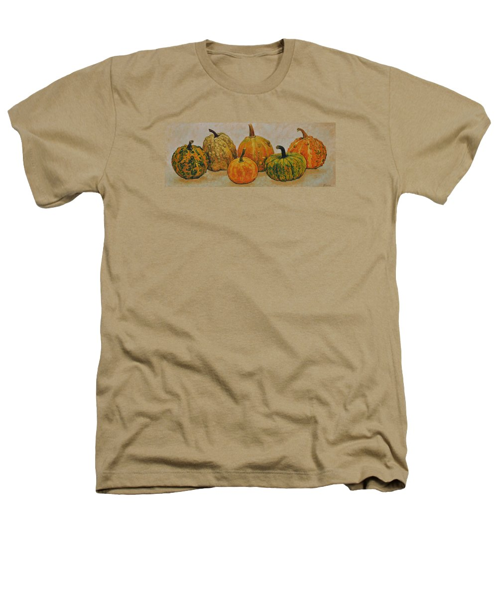 Still Life Heathers T-Shirt featuring the painting Still Life With Pumpkins by Iliyan Bozhanov