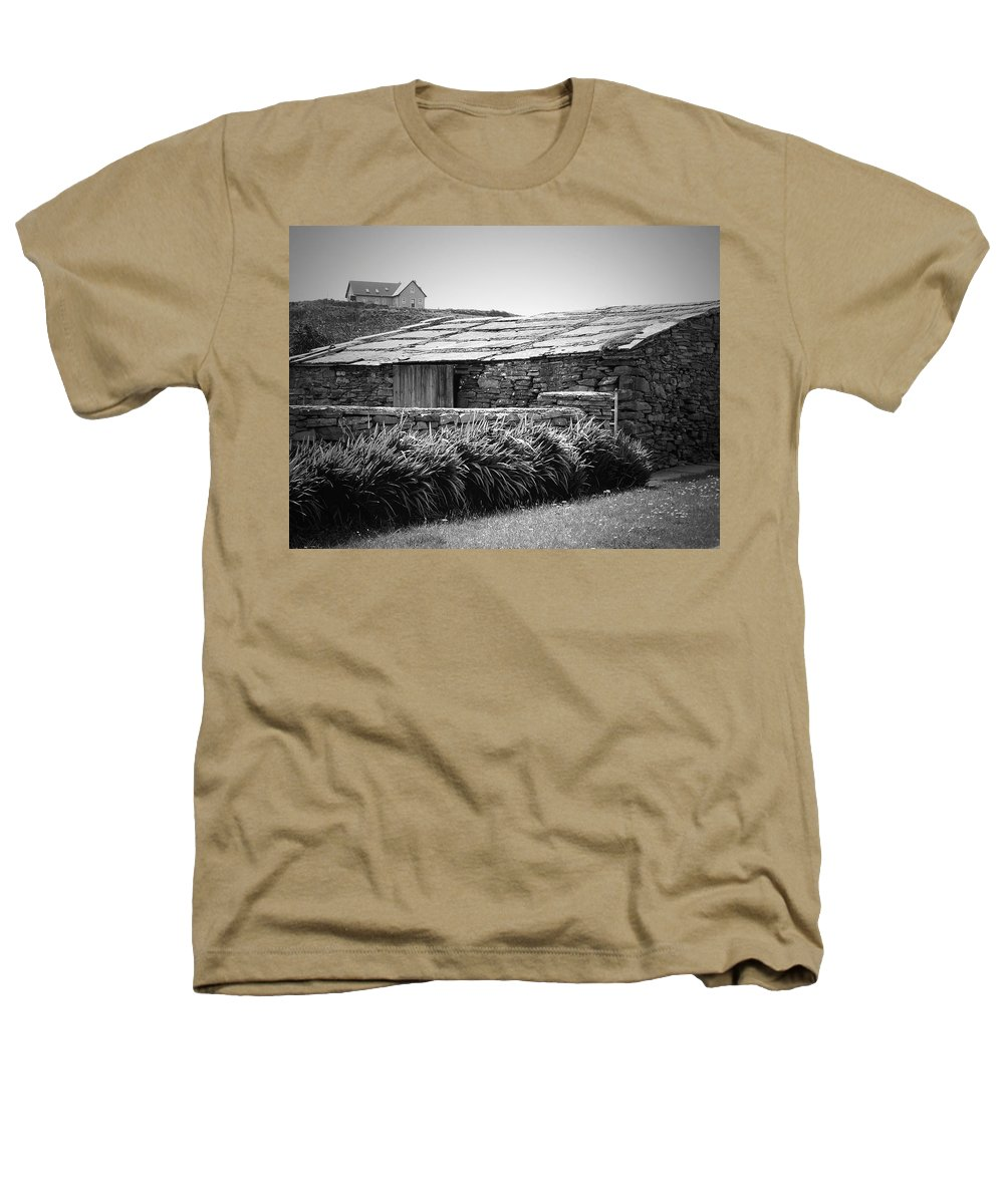 Irish Heathers T-Shirt featuring the photograph Stone Structure Doolin Ireland by Teresa Mucha