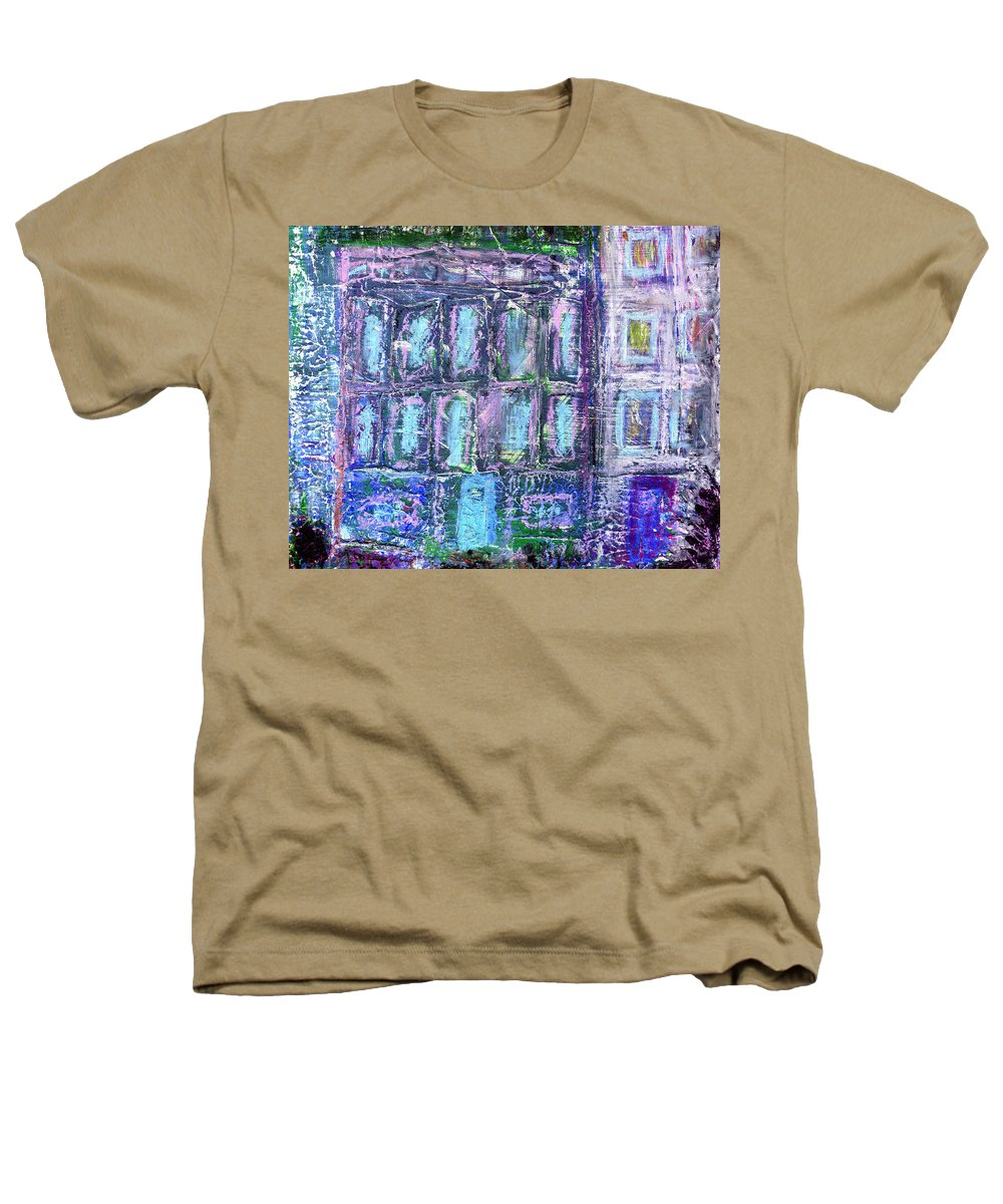 Street Heathers T-Shirt featuring the painting Street Life by Wayne Potrafka