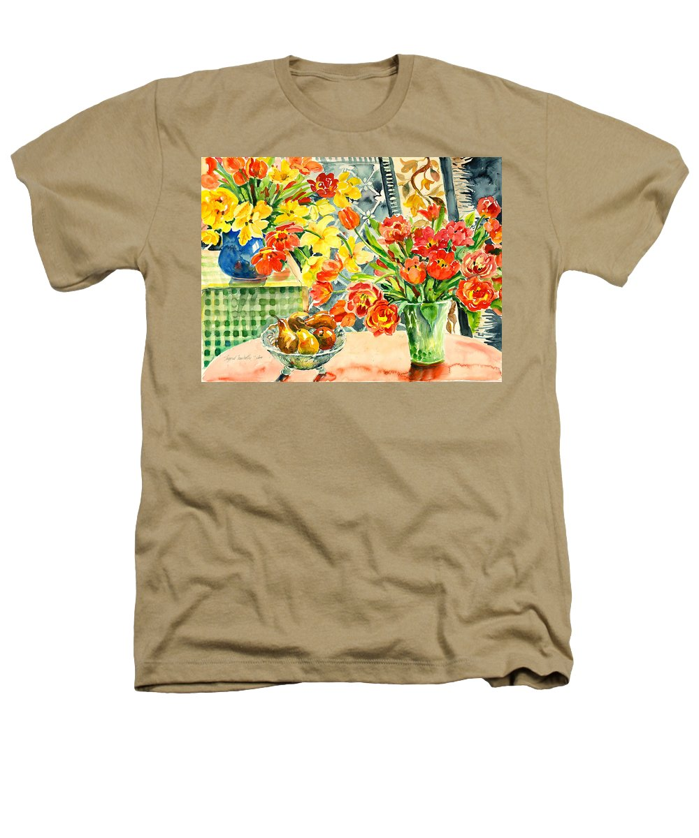 Watercolor Heathers T-Shirt featuring the painting Studio Still Life by Alexandra Maria Ethlyn Cheshire