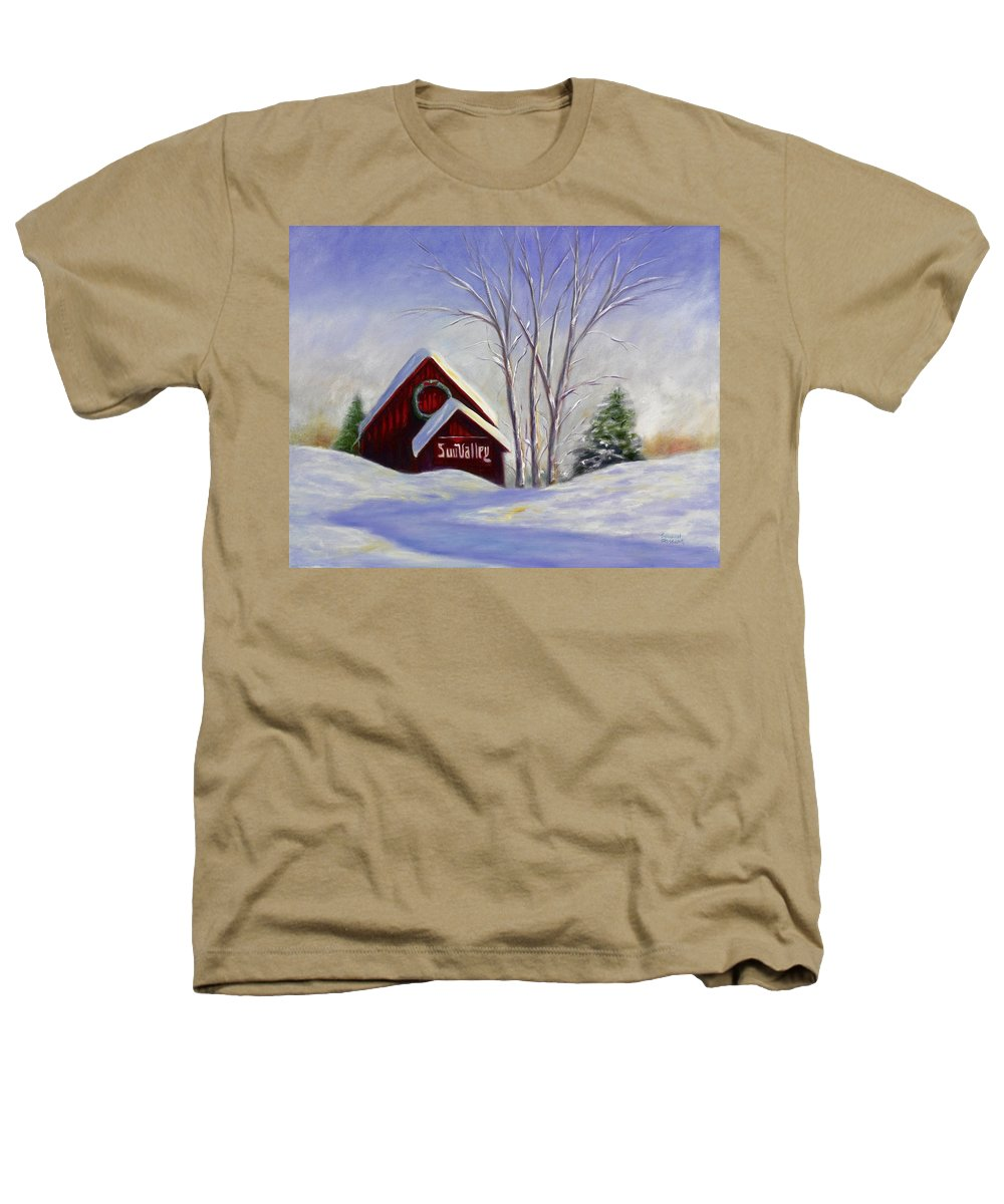 Landscape White Heathers T-Shirt featuring the painting Sun Valley 1 by Shannon Grissom