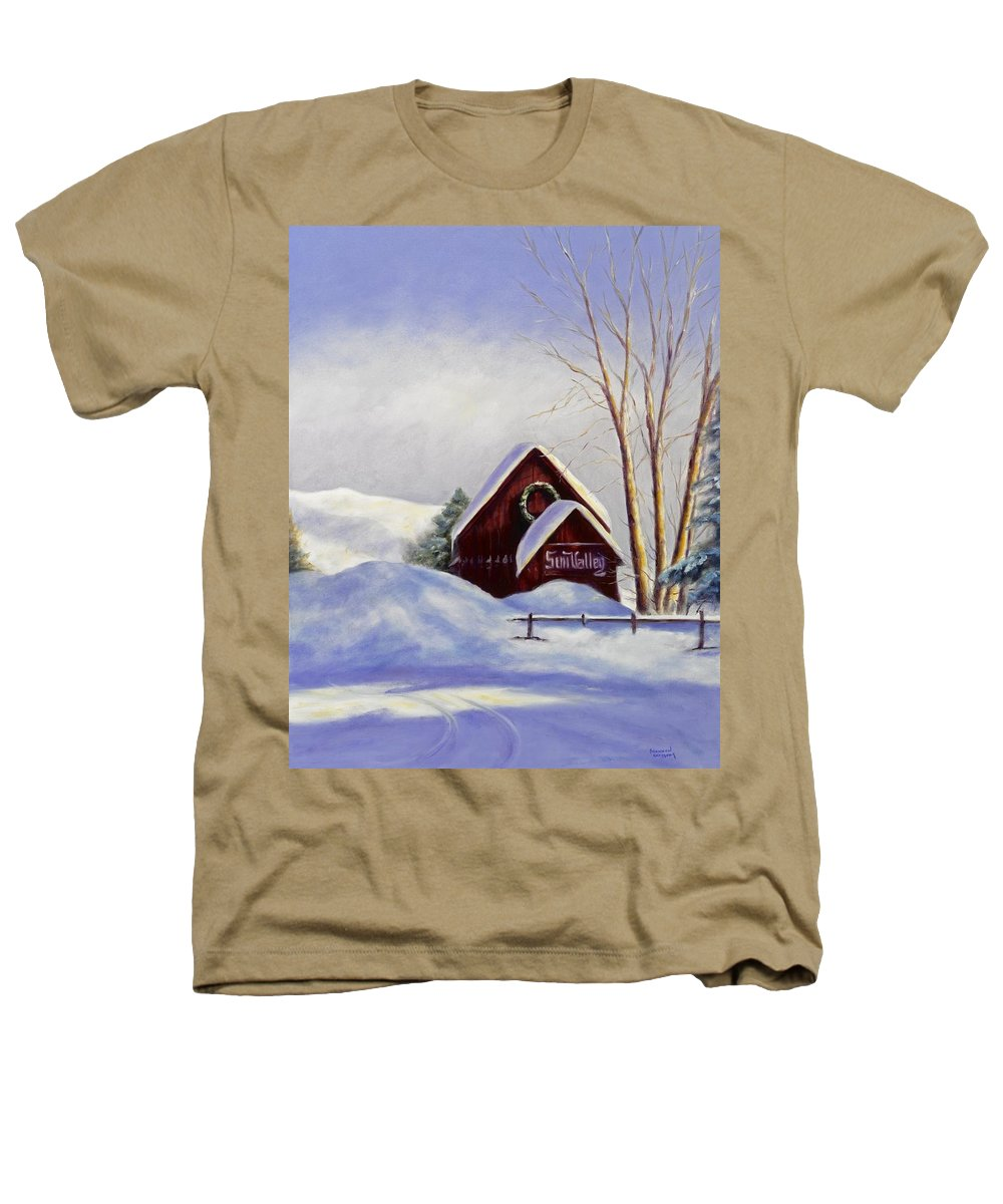 Landscape Heathers T-Shirt featuring the painting Sun Valley 2 by Shannon Grissom