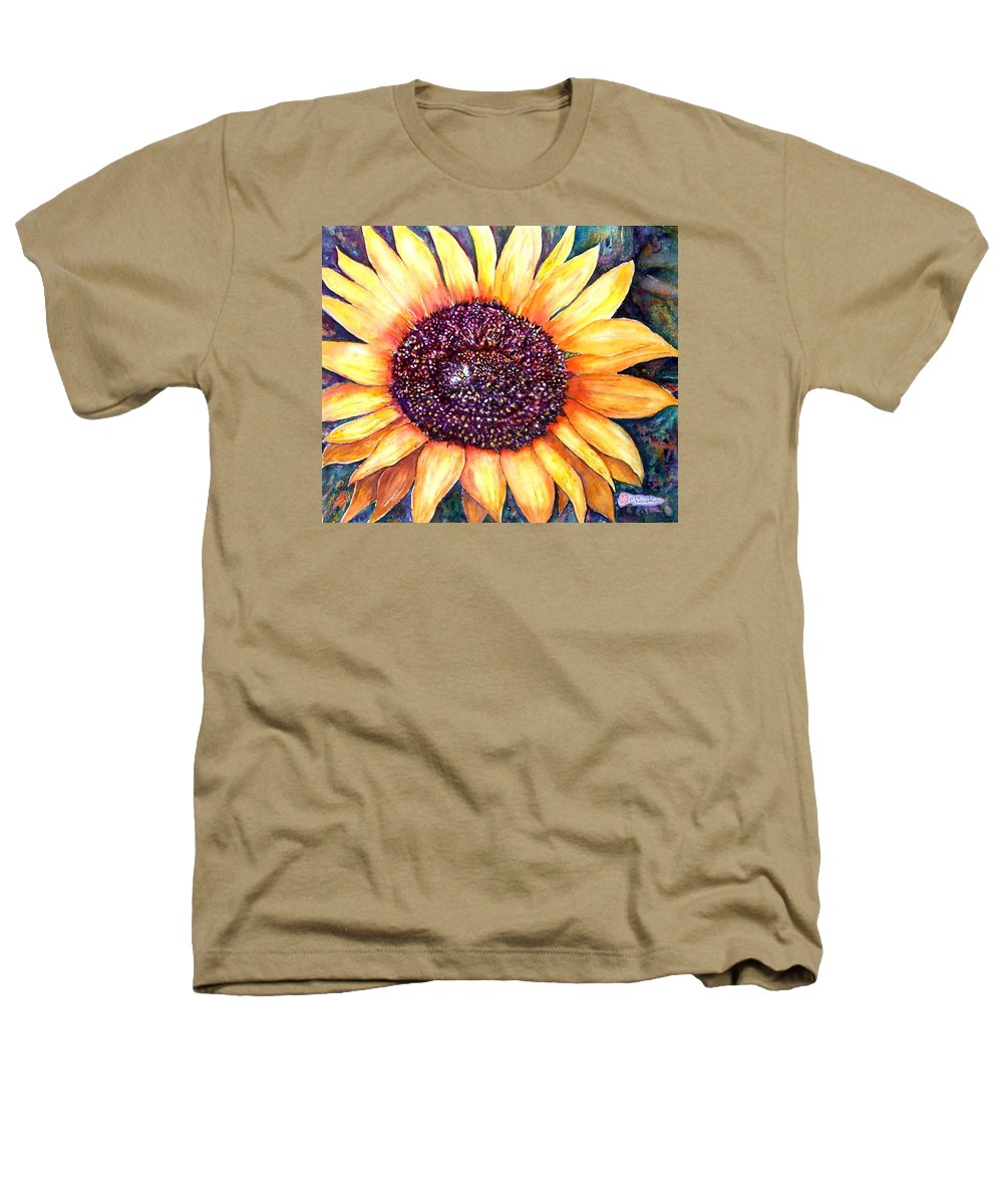 Sunflower Heathers T-Shirt featuring the painting Sunflower Of Georgia by Norma Boeckler