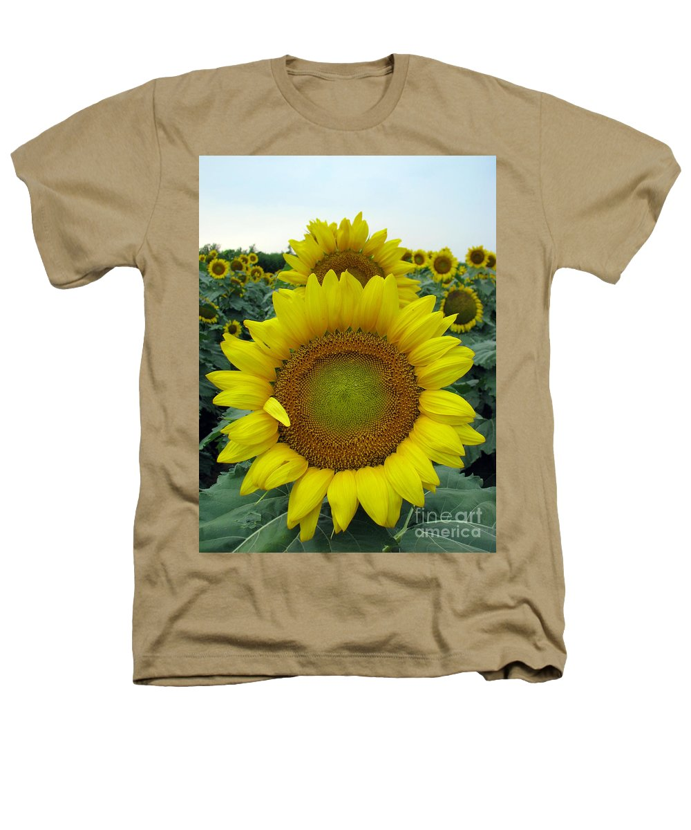Sunflowers Heathers T-Shirt featuring the photograph Sunflowers by Amanda Barcon