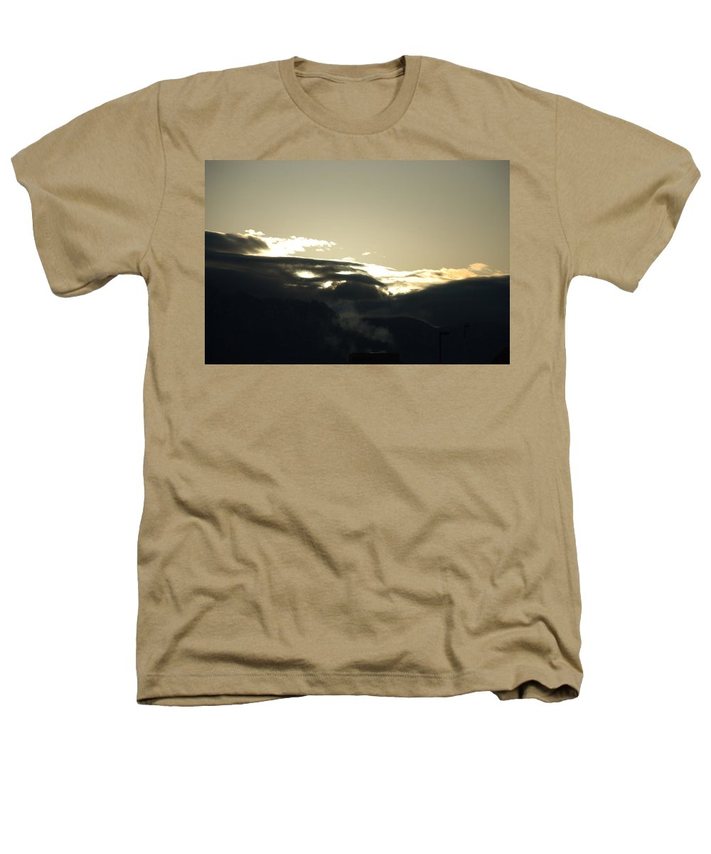 Sunrise Heathers T-Shirt featuring the photograph Sunrise Over The Sandias by Rob Hans