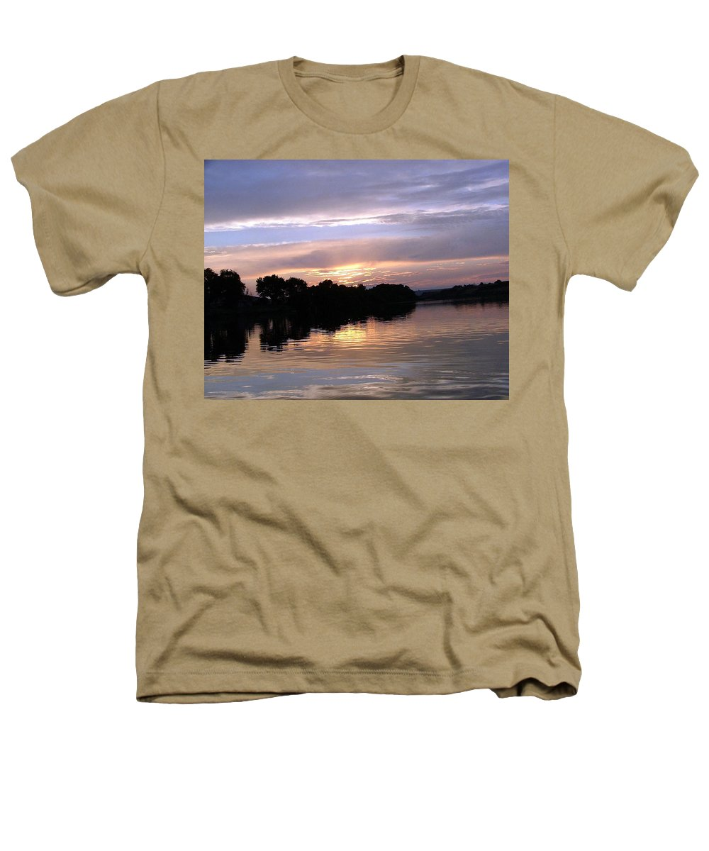 Snake River Heathers T-Shirt featuring the photograph Sunset On The Snake by Dawn Blair