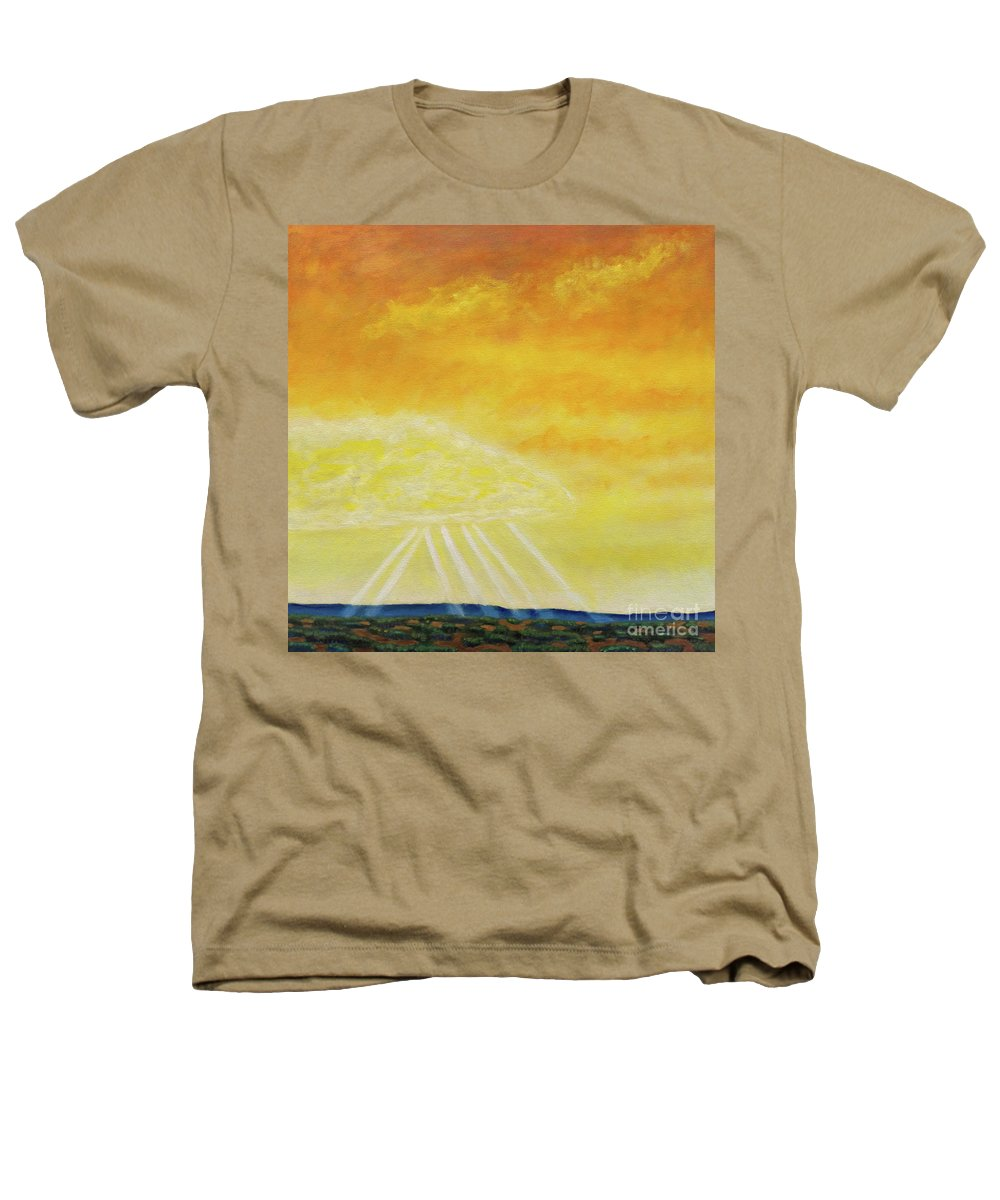 Landscape Heathers T-Shirt featuring the painting Super Seven by Brian Commerford