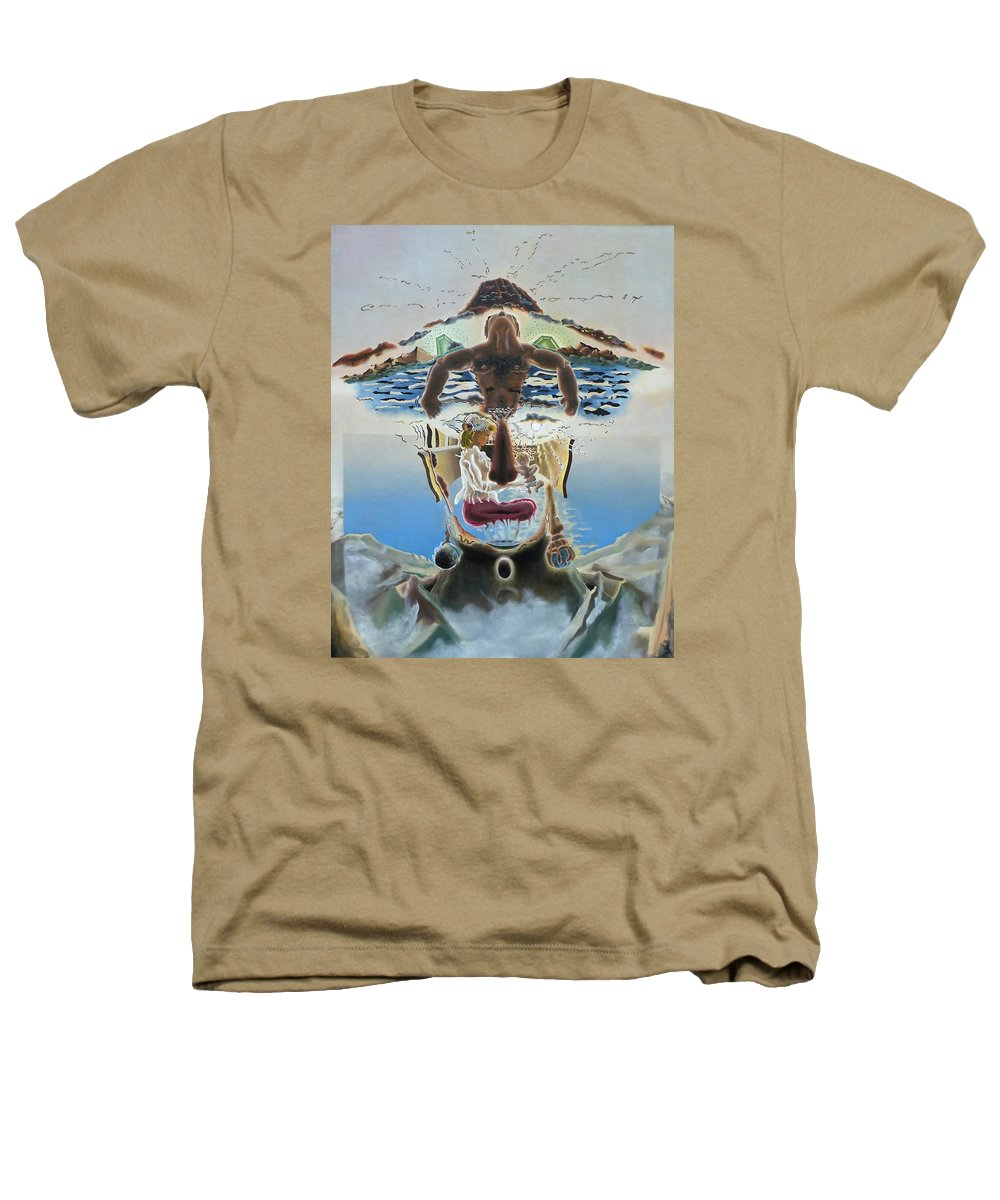 Surreal Heathers T-Shirt featuring the painting Surreal Memories by Dave Martsolf