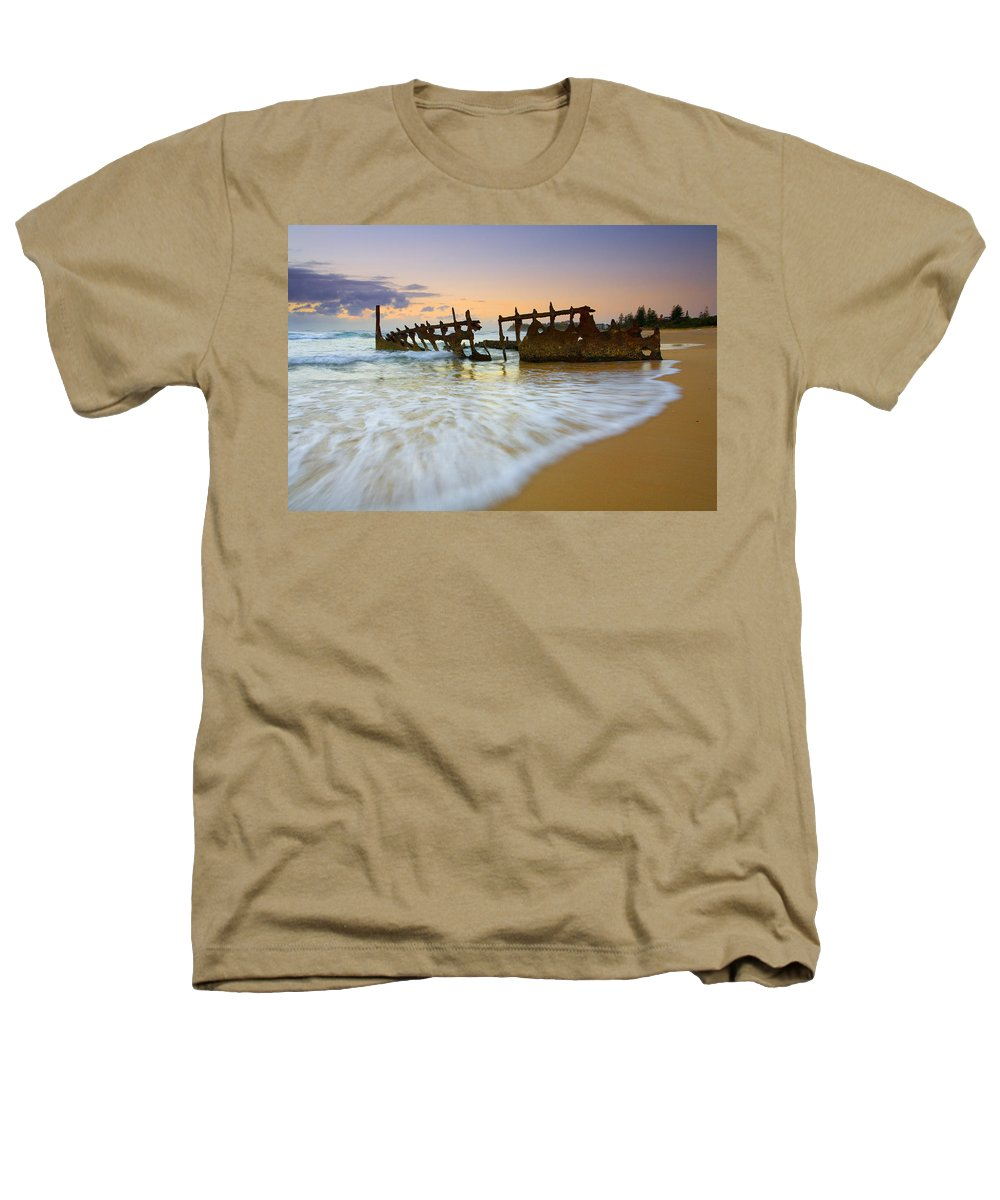 Shipwreck Heathers T-Shirt featuring the photograph Swallowed By The Tides by Mike Dawson