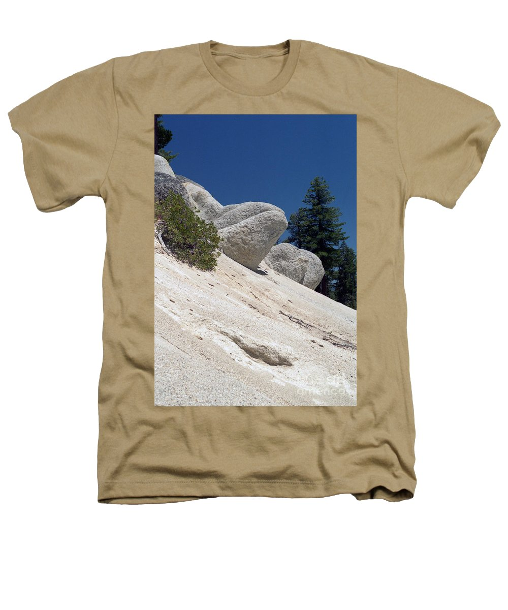 Abstract Heathers T-Shirt featuring the photograph Tahoe Rocks by Richard Rizzo