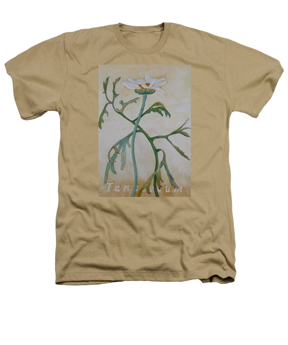 Flower Heathers T-Shirt featuring the painting Tanacetum by Ruth Kamenev