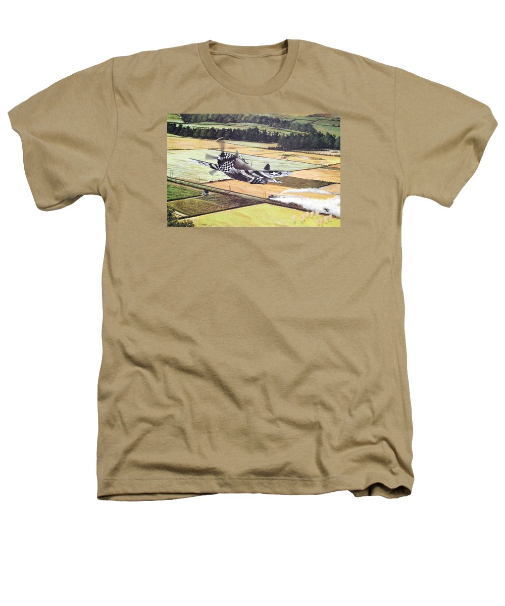Military Heathers T-Shirt featuring the painting Target Of Opportunity by Marc Stewart