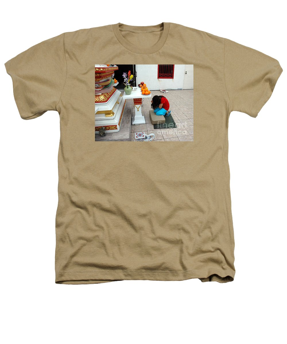Child Heathers T-Shirt featuring the photograph Temple Prayer by Michael Ziegler