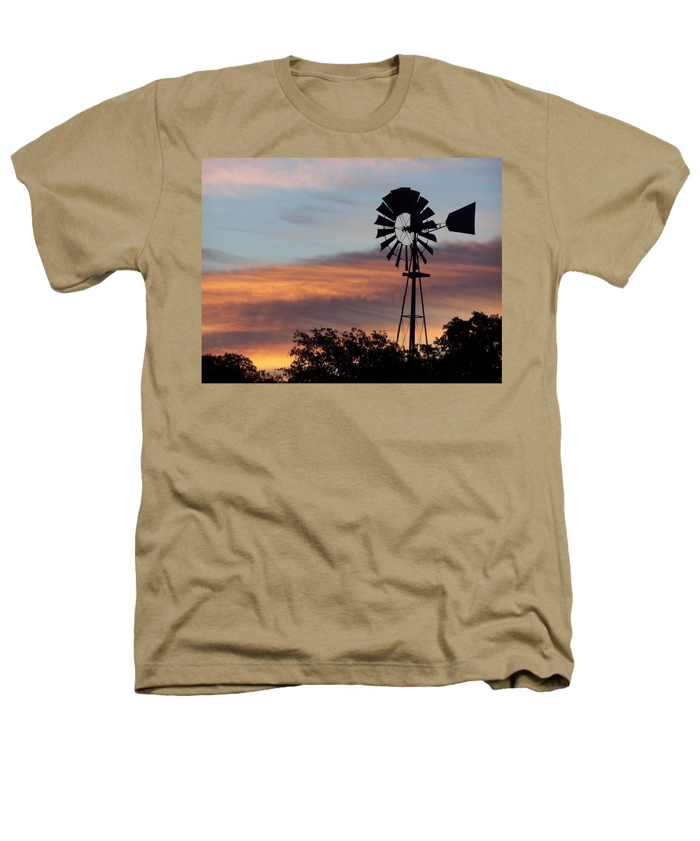 Windmill Heathers T-Shirt featuring the photograph Texas Sunrise by Gale Cochran-Smith
