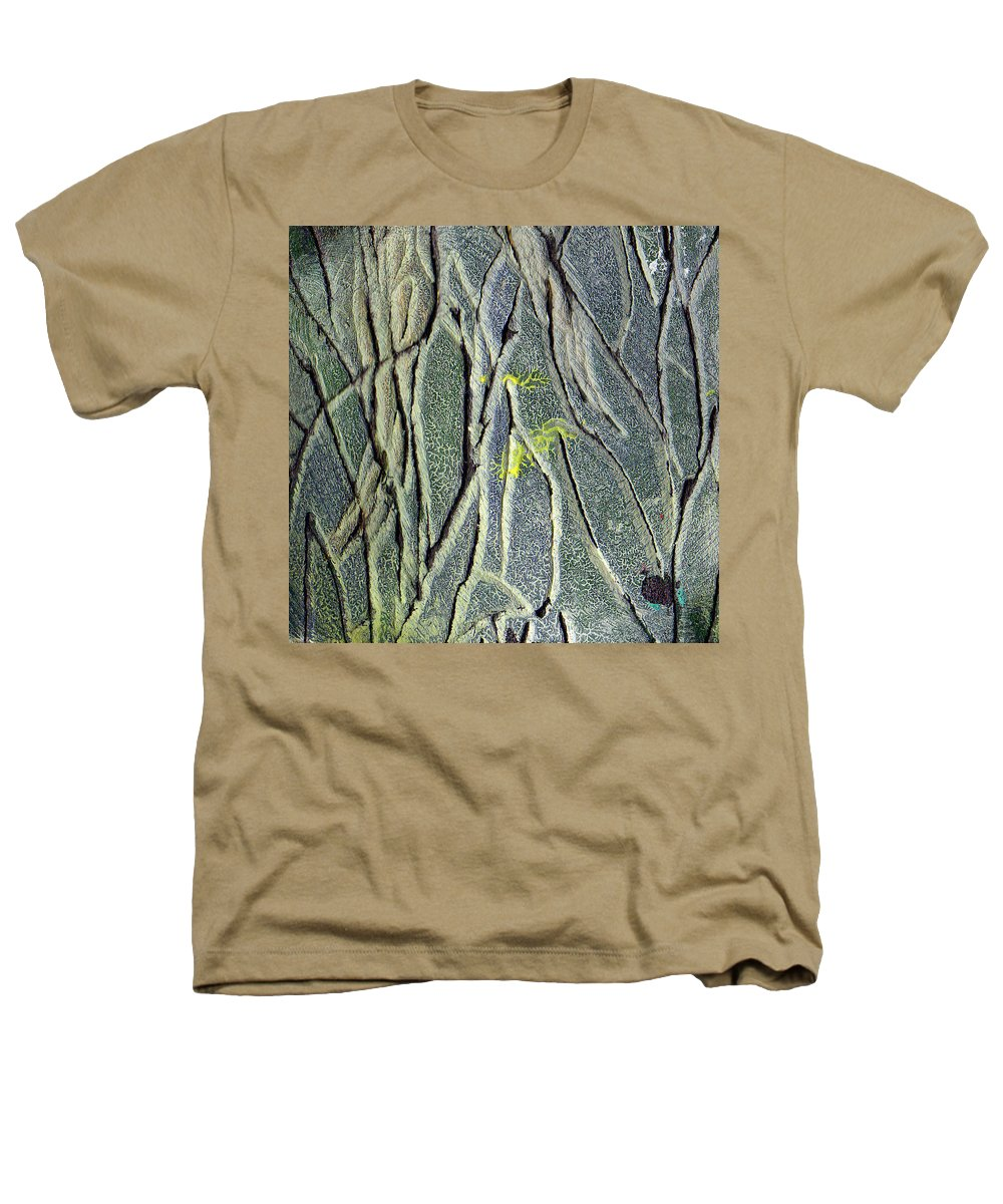 Abstract Heathers T-Shirt featuring the painting Texture Study One  Entanglement by Wayne Potrafka
