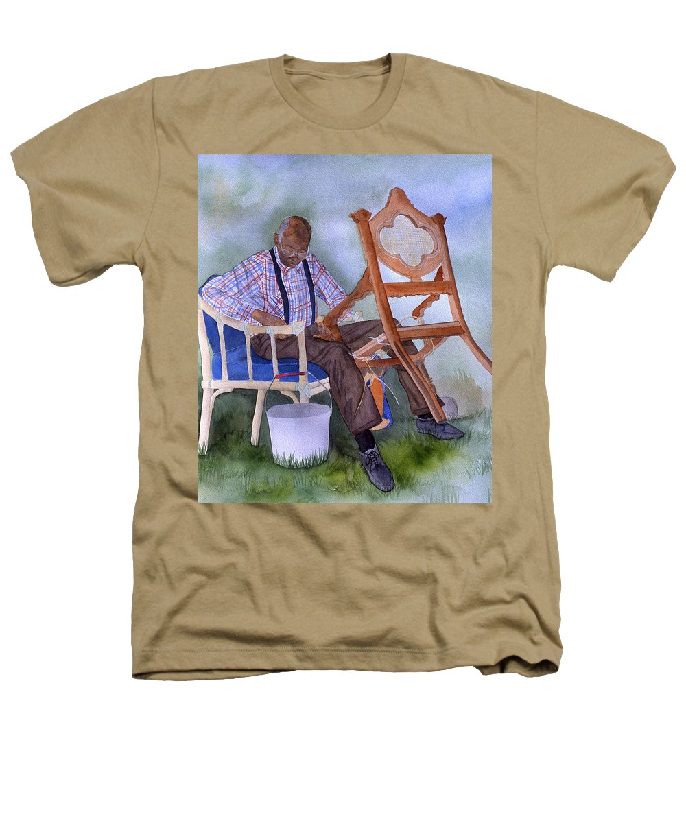 Portrait Heathers T-Shirt featuring the painting The Art Of Caning by Jean Blackmer