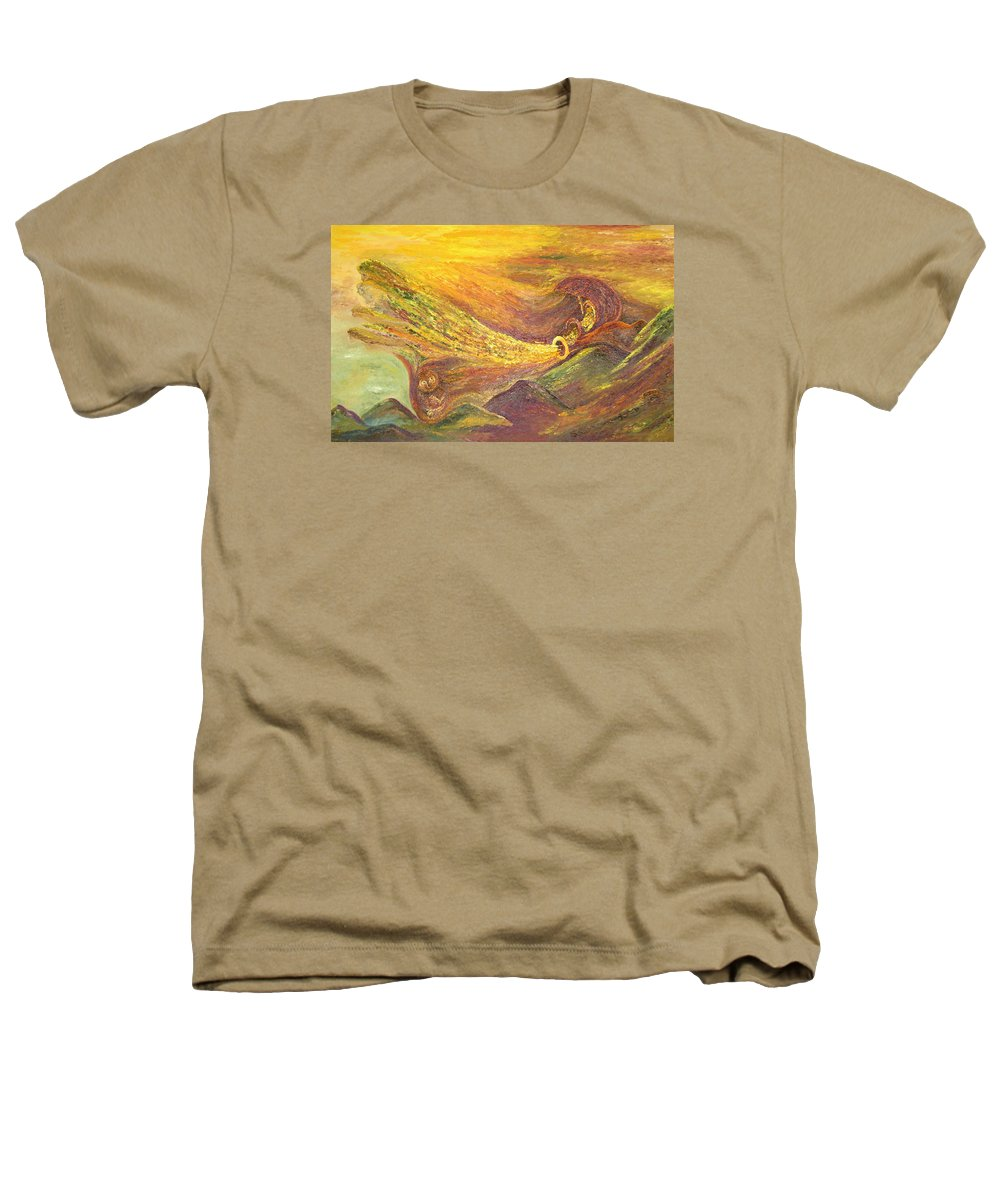 Autumn Heathers T-Shirt featuring the painting The Autumn Music Wind by Karina Ishkhanova