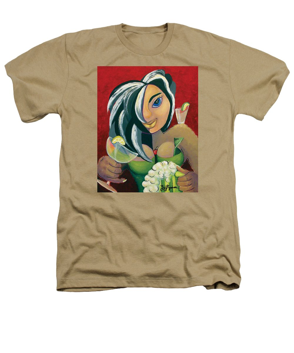 Bar Heathers T-Shirt featuring the painting The Barwaitress by Elizabeth Lisy Figueroa