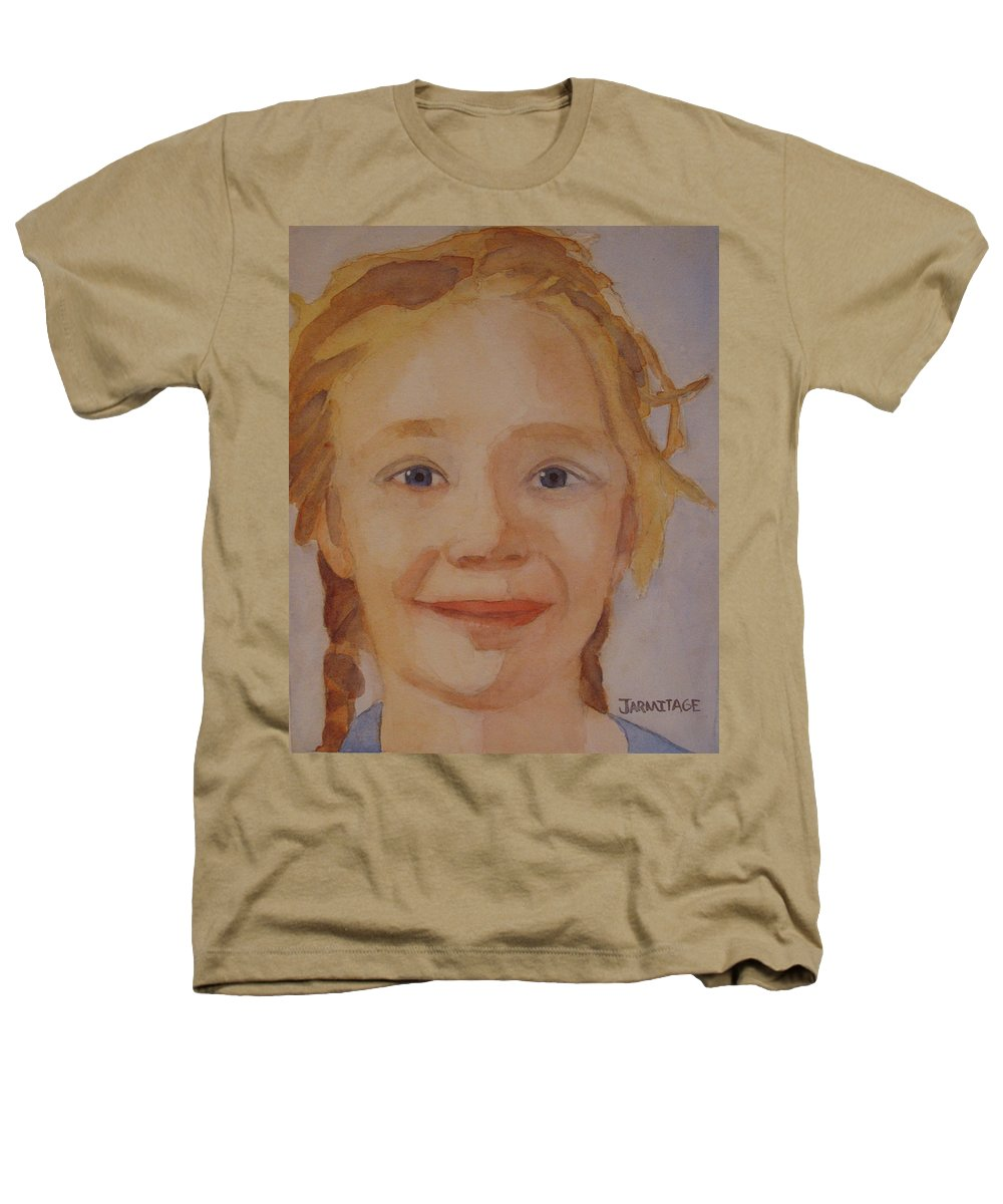 Partrait Heathers T-Shirt featuring the painting The Blue-eyed Duckling by Jenny Armitage