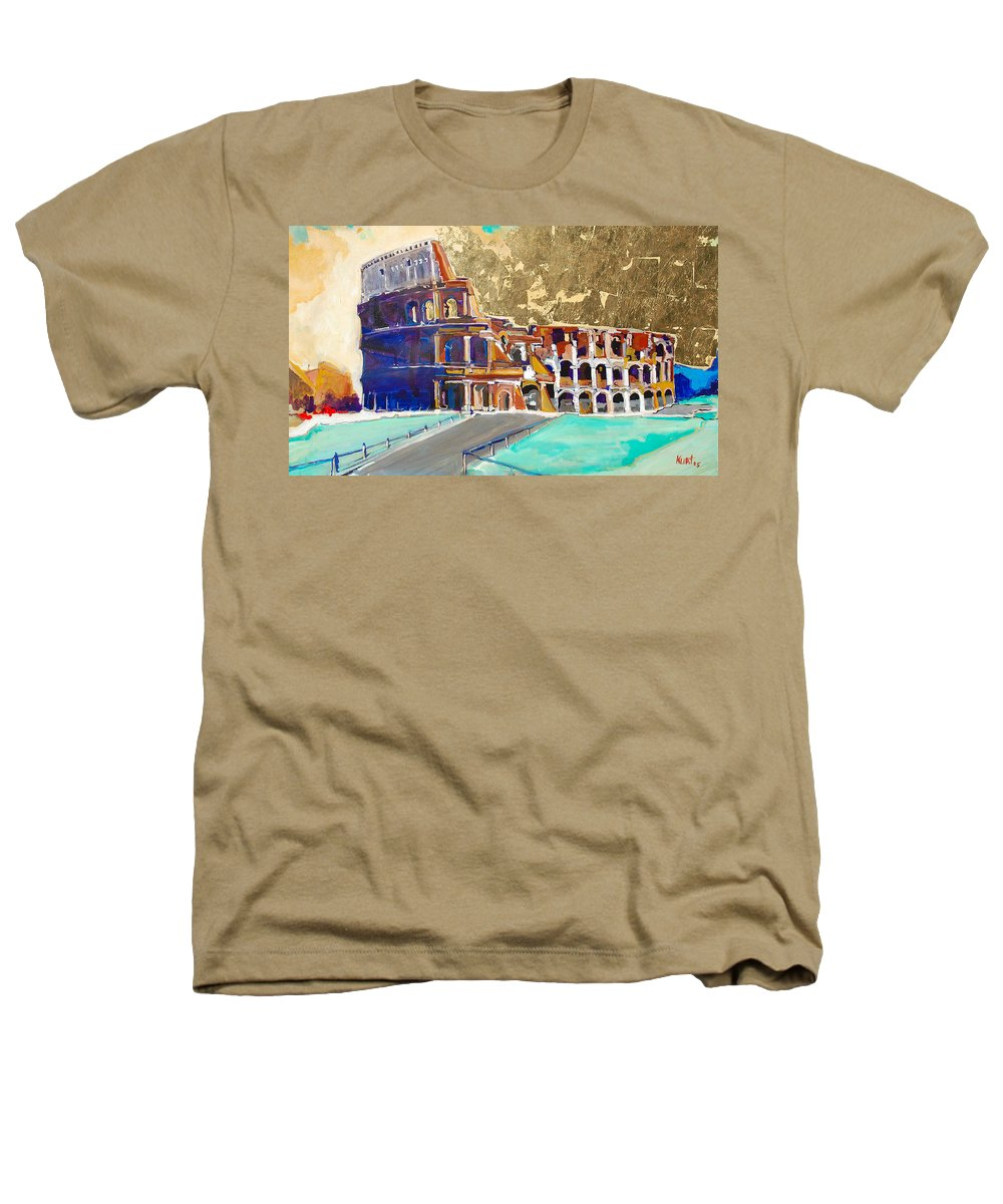 Colosseum Heathers T-Shirt featuring the painting The Colosseum by Kurt Hausmann