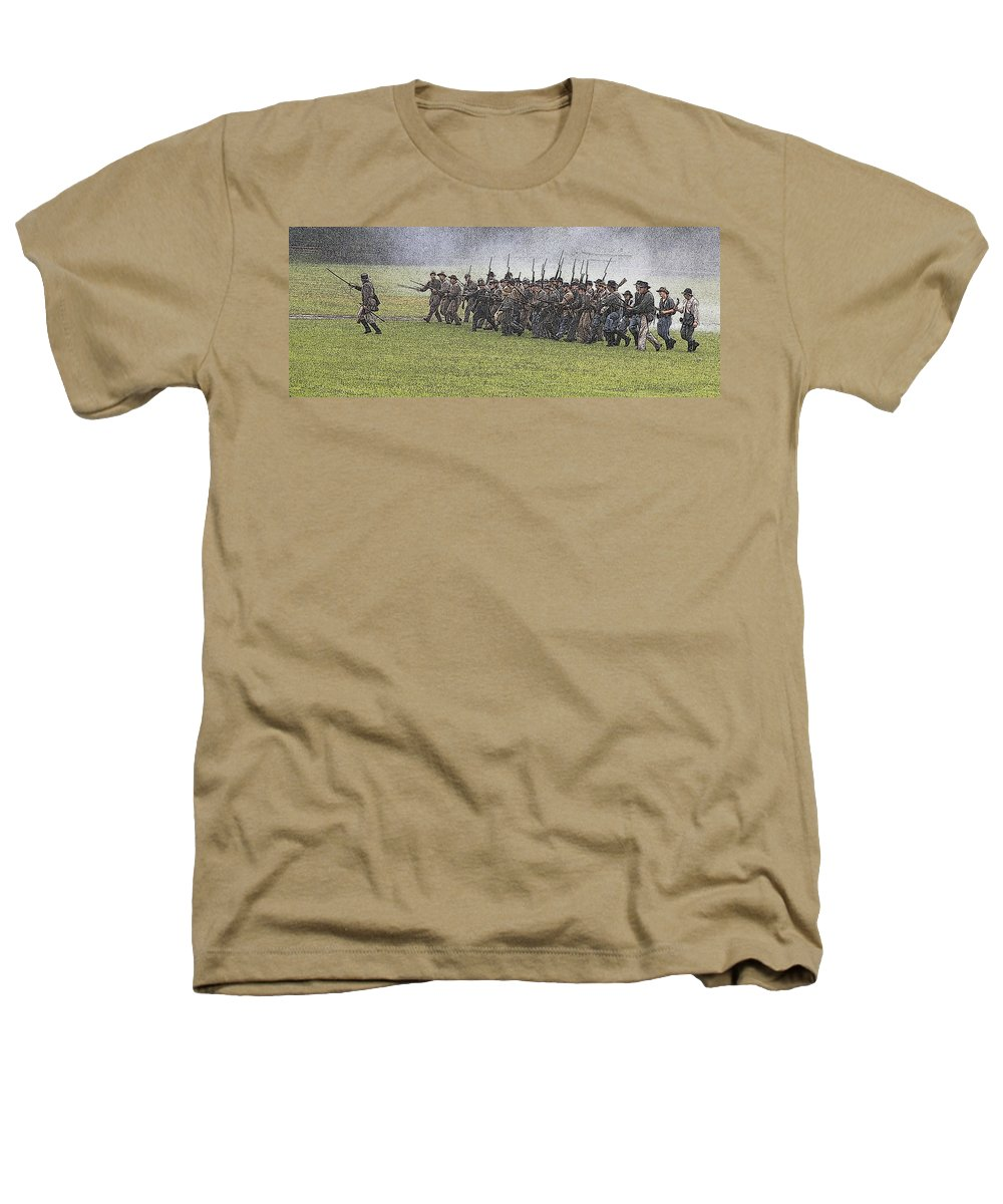 Civil War Heathers T-Shirt featuring the photograph The Conflict by Robert Pearson