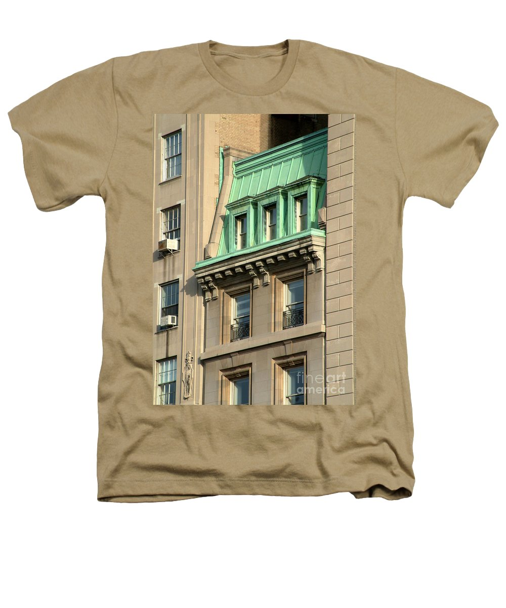 Apartments Heathers T-Shirt featuring the photograph The Copper Attic by RC DeWinter