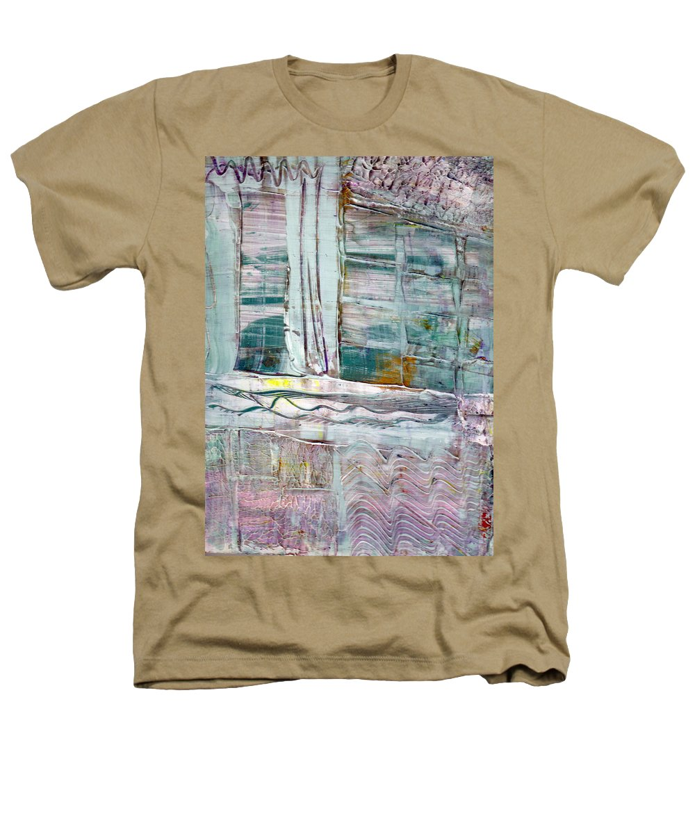 Abstract Heathers T-Shirt featuring the painting The Corner Window by Wayne Potrafka