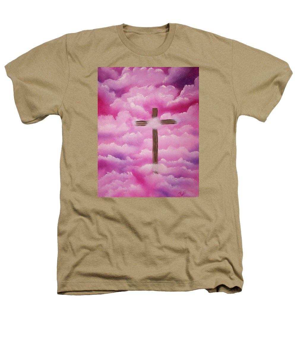 Cross Artwork Heathers T-Shirt featuring the painting The Cross Of Redemption by Laurie Kidd