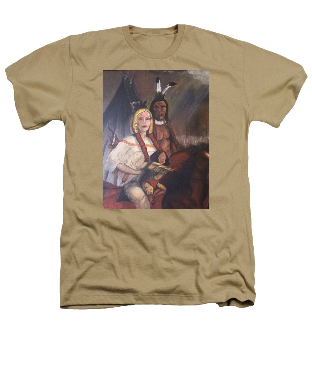 Artwork Heathers T-Shirt featuring the painting The Cynthia Ann Parker Family by Laurie Kidd