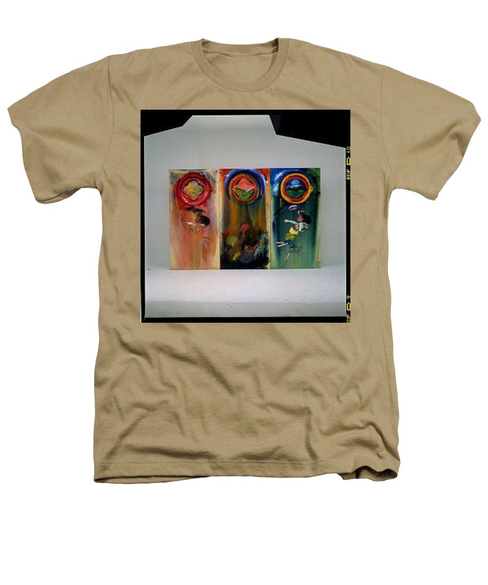 Fall From Grace Heathers T-Shirt featuring the painting The Fruit Machine Stops by Charles Stuart