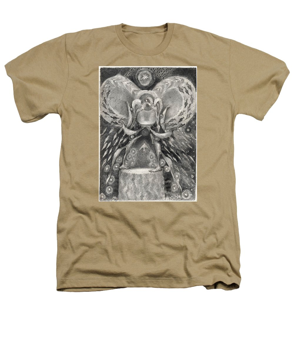 The Gift Heathers T-Shirt featuring the drawing The Gift II by Juel Grant