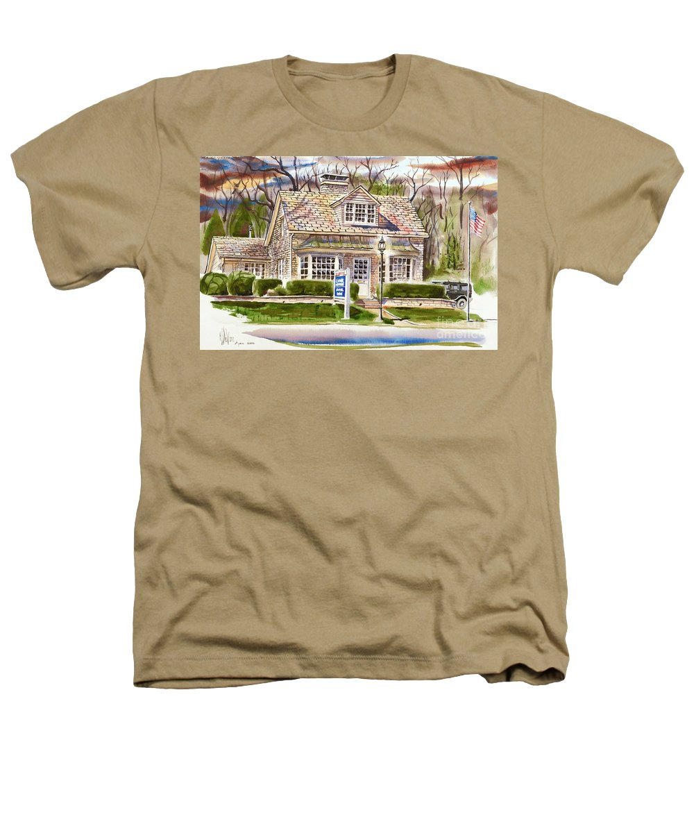 The Greystone Inn In Brigadoon Heathers T-Shirt featuring the painting The Greystone Inn In Brigadoon by Kip DeVore