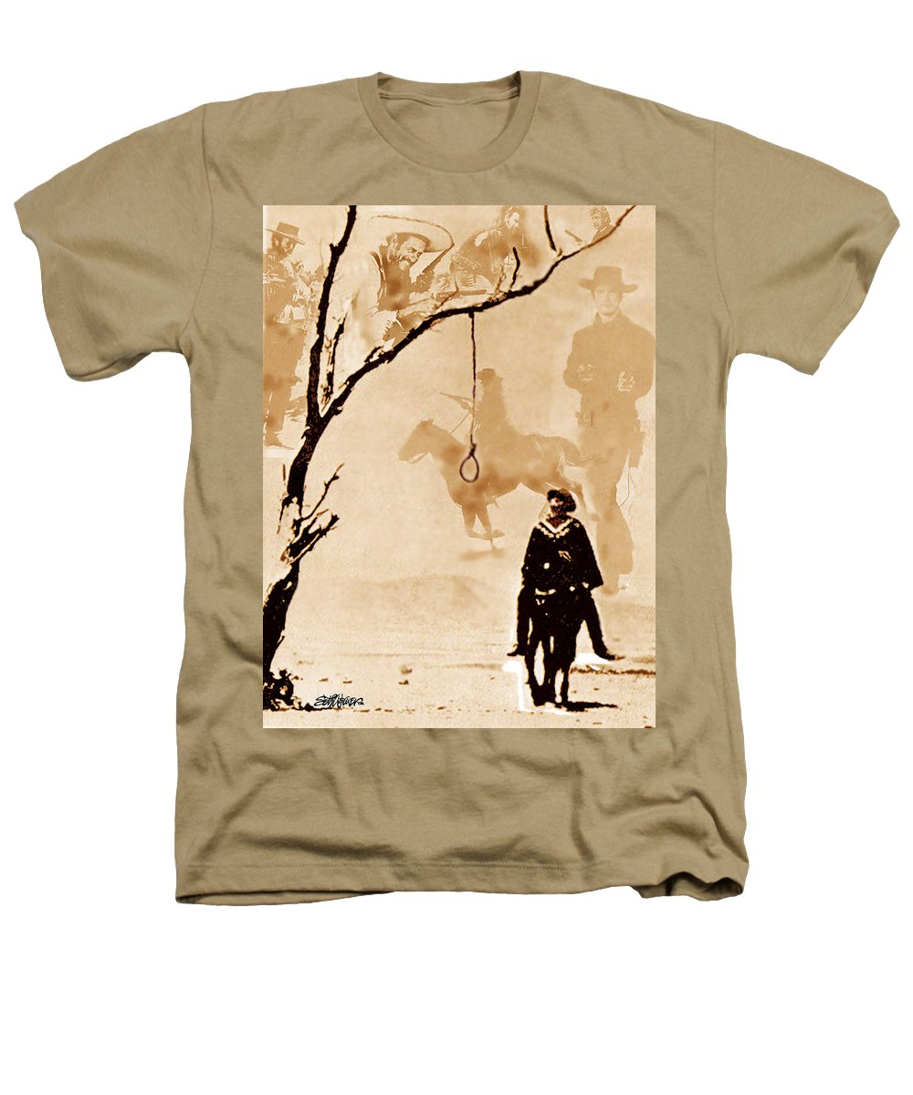 Clint Eastwood Heathers T-Shirt featuring the digital art The Hangman's Tree by Seth Weaver