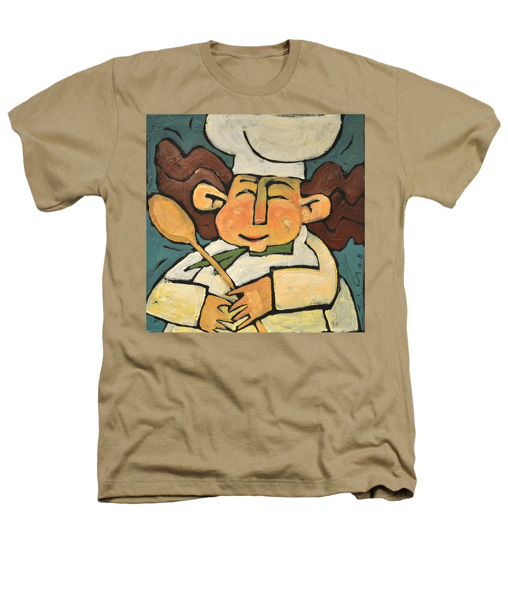 Chef Heathers T-Shirt featuring the painting The Happy Chef by Tim Nyberg