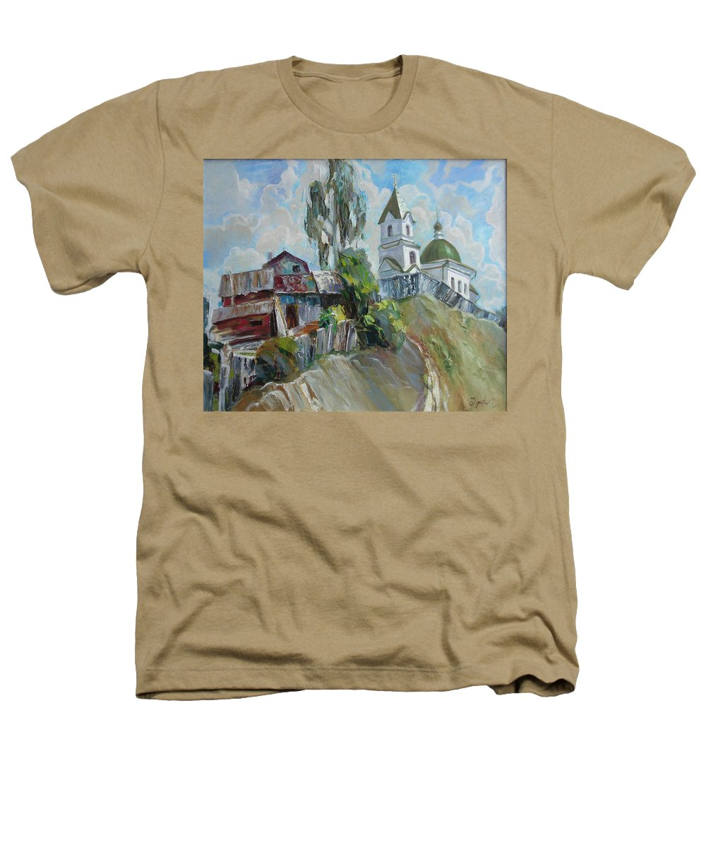 Oil Heathers T-Shirt featuring the painting The Old And New by Sergey Ignatenko