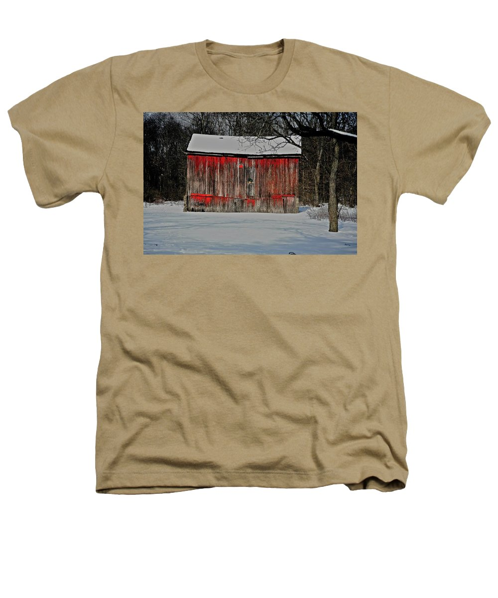 Old Heathers T-Shirt featuring the photograph The Old Weathered Barn by Robert Pearson