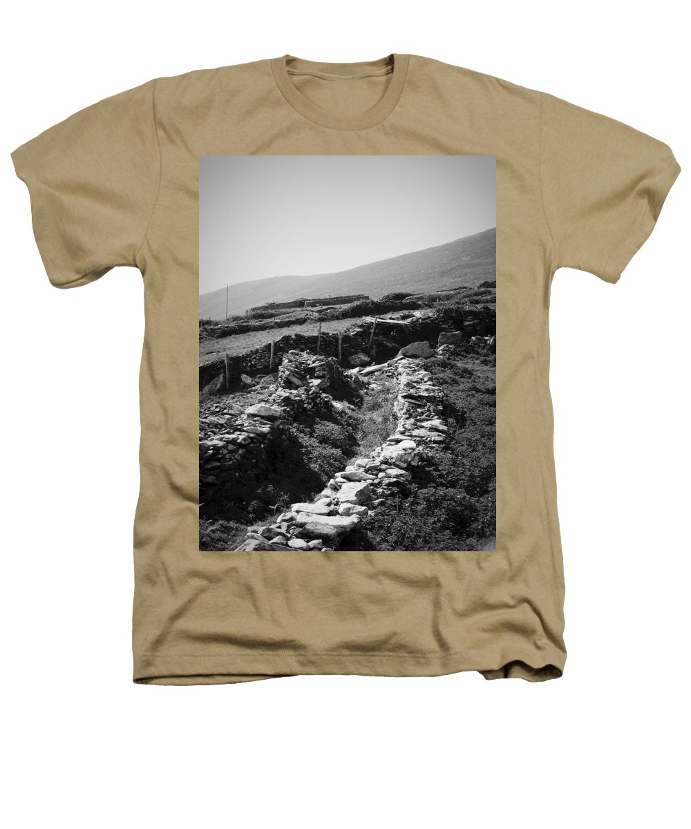 Irish Heathers T-Shirt featuring the photograph The Path To The Beehive Huts In Fahan Ireland by Teresa Mucha