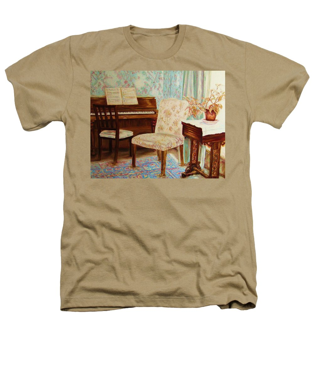 Iimpressionism Heathers T-Shirt featuring the painting The Piano Room by Carole Spandau