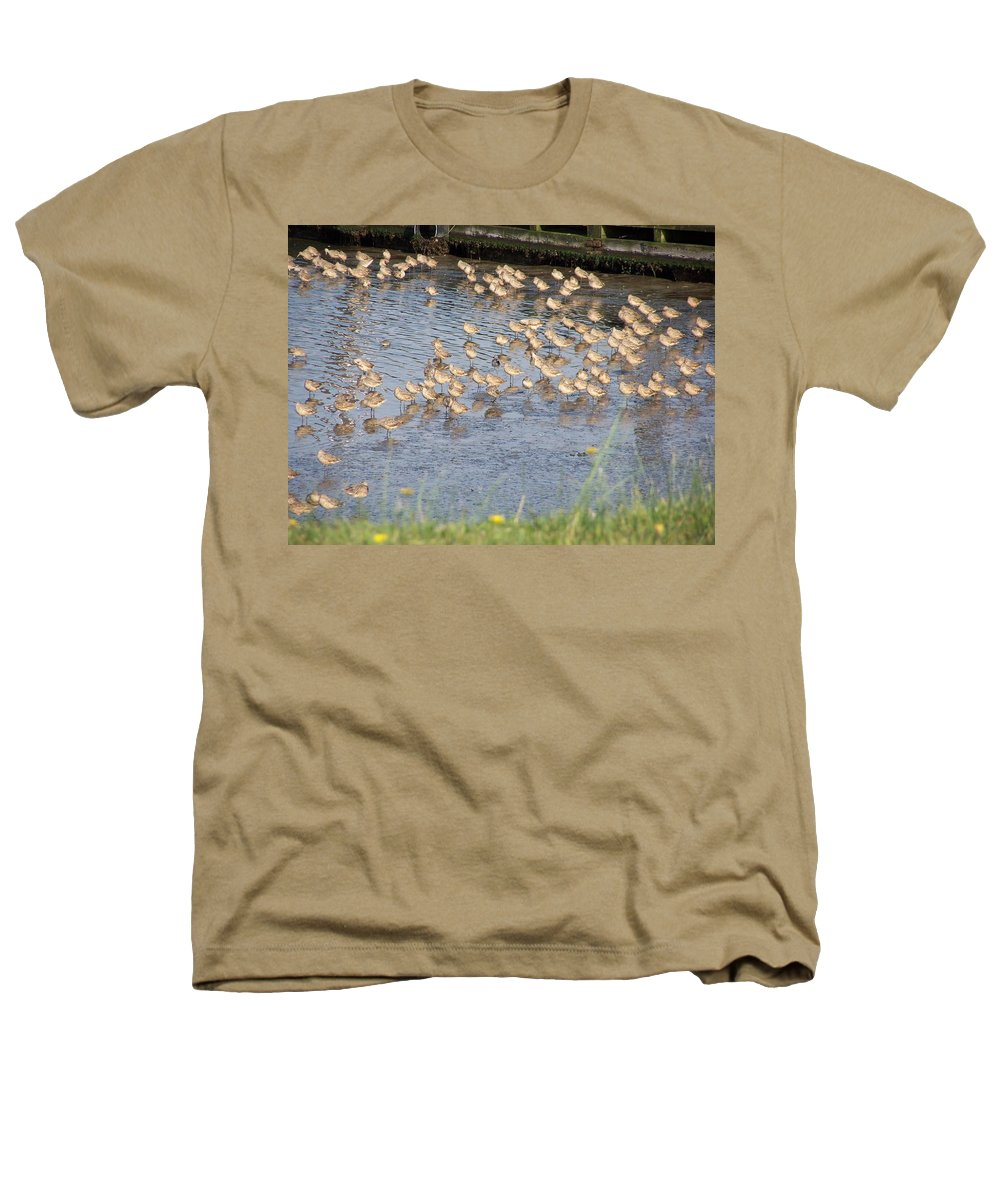 Seabirds Heathers T-Shirt featuring the photograph The Plovers by Laurie Kidd