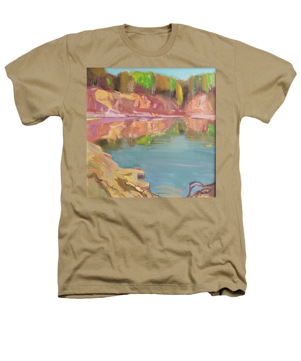 Oil Heathers T-Shirt featuring the painting The Quarry by Sergey Ignatenko
