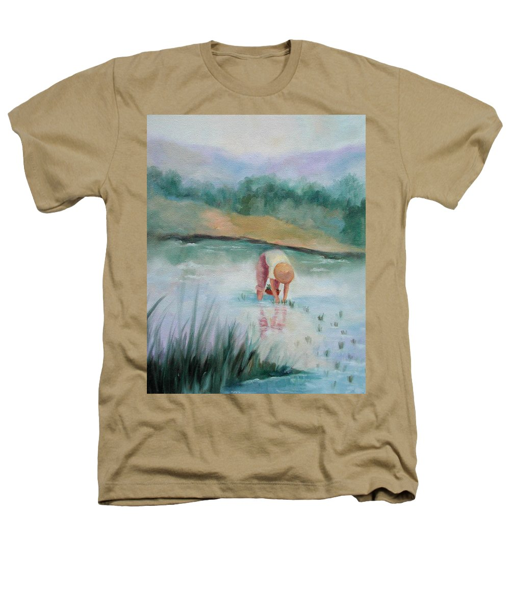 Figurative Heathers T-Shirt featuring the painting The Rice Planter by Ginger Concepcion
