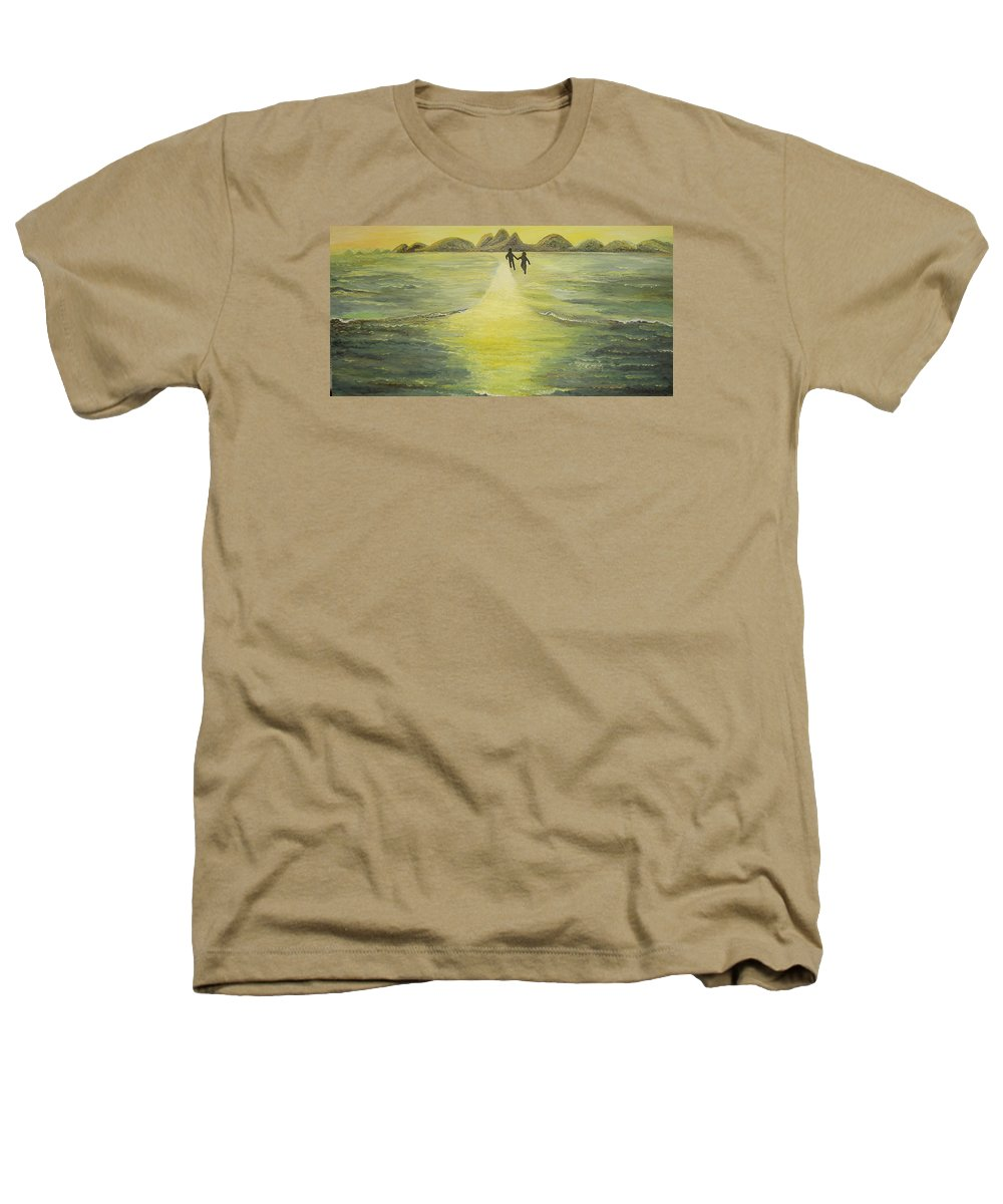 Soul Heathers T-Shirt featuring the painting The Road In The Ocean Of Light by Karina Ishkhanova