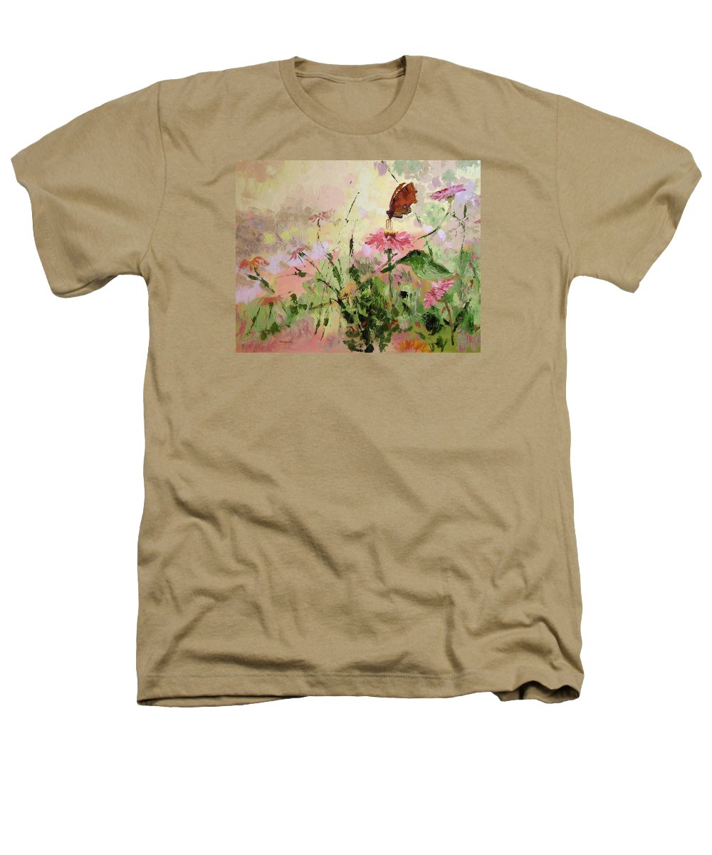 Butterflies Heathers T-Shirt featuring the painting The Seeker by Ginger Concepcion