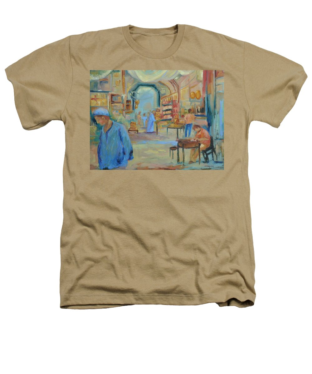 Figurative Heathers T-Shirt featuring the painting The Souk by Ginger Concepcion