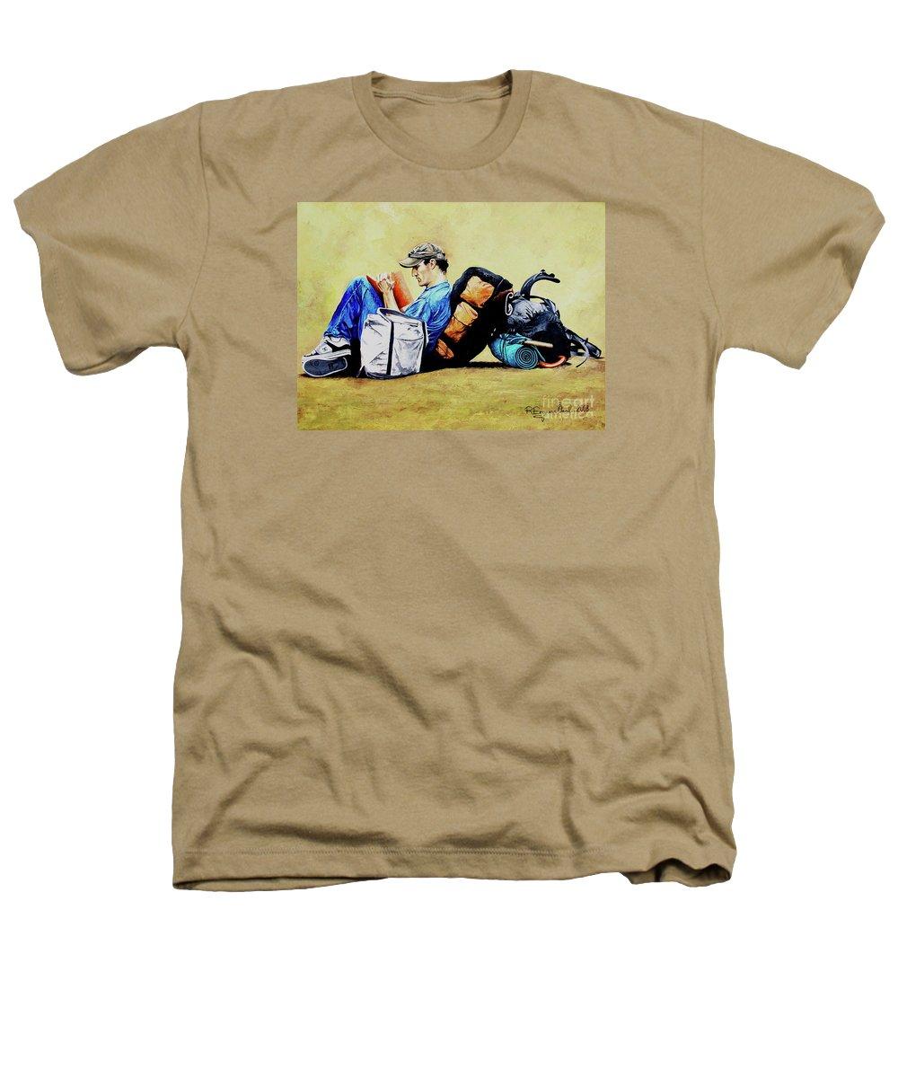 Travel Heathers T-Shirt featuring the painting The Traveler 2 - El Viajero 2 by Rezzan Erguvan-Onal